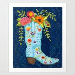 Cowgirl Boot Art Print