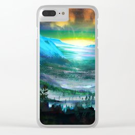 Solar Winds Clear iPhone Case