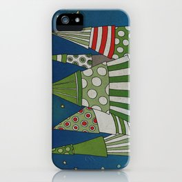 Night in the Winter Forest iPhone Case