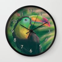 tropical Wall Clocks featuring Tropical by Ben Geiger