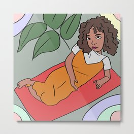 Lay Down Metal Print