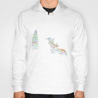 bats Hoodies featuring Bats by the Fox and the Hare