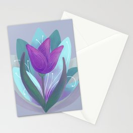 Tulip and Lotus Blossom Stationery Cards