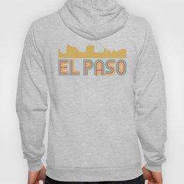 Vintage Style El Paso Texas Skyline Hoody