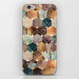 Natural Hexagons And Diamonds iPhone Skin