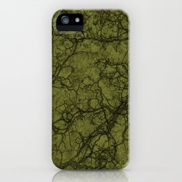 Olive Green Hunting Camo Pattern iPhone Case