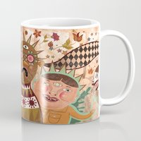 surrealism Mugs featuring Folk Surrealism by CrazyMavis