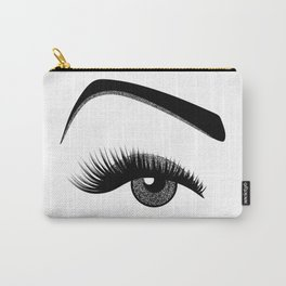 Silver eye makeup Carry-All Pouch