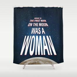 What if - 50 Years Moonlanding Shower Curtain