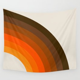 Retro Golden Rainbow - Right Side Wall Tapestry