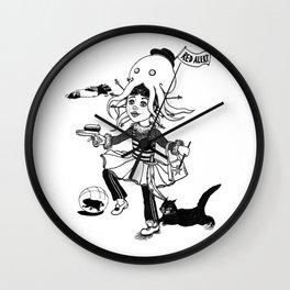 Little miss captain Spontaneous Wall Clock