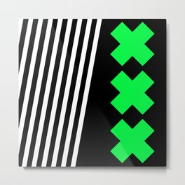 Bold Minimalism 2 (black and neon green) Metal Print