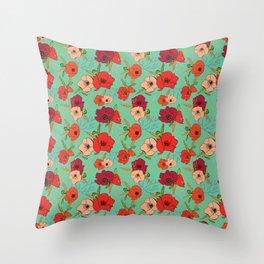 Harvest Poppies Throw Pillow