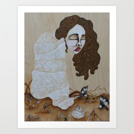 The wind will hurt you if you're not careful Art Print