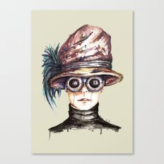 Girl with Goggles Canvas Print