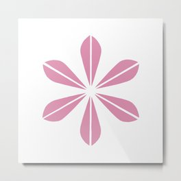Pink on White Cathrineholm Metal Print
