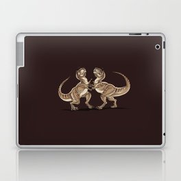 Two dinosaurs fighting each other illustration Laptop & iPad Skin