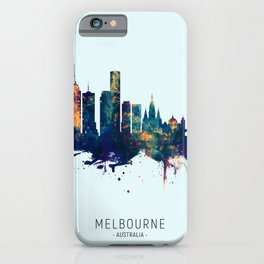 Melbourne Australia Skyline iPhone Case