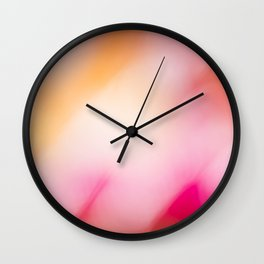 Pink Colours Wall Clock