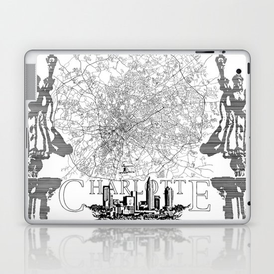 Charlotte Map Laptop & iPad Skin