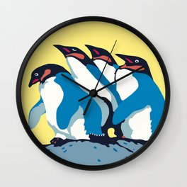 Four Penguins Wall Clock