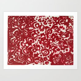 Abstract red close up Art Print