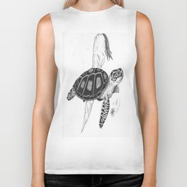 Sea turtle Biker Tank