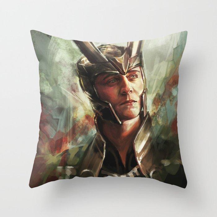 The Prince of Asgard Throw Pillow