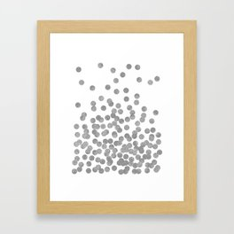 Silver Glitter Drops in bold and cute modern minimal colors for trendy gifts and glitter phone case Framed Art Print