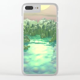 The Green Planet Clear iPhone Case