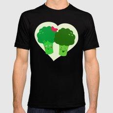 Broccoli in love Black MEDIUM Mens Fitted Tee