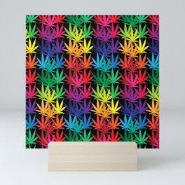 Cannabis Rainbow Mini Art Print