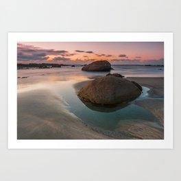 The rock that smiles Art Print