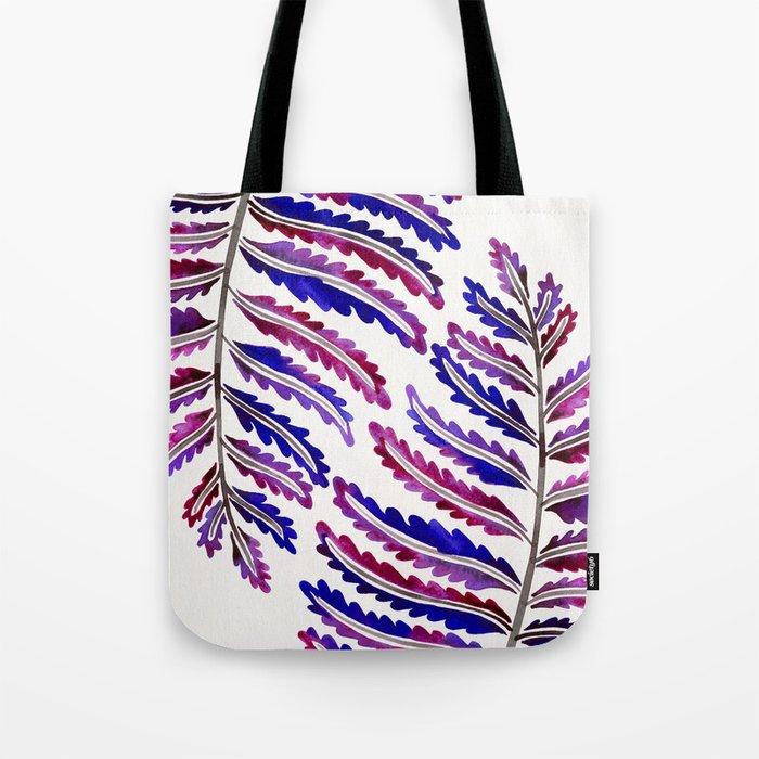Fern Leaf – Indigo Palette Tote Bag