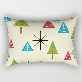 Mid Century Modern Christmas Trees Rectangular Pillow