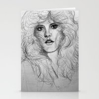 stevie nicks Stationery Cards featuring Stevie by Art by Klaudia