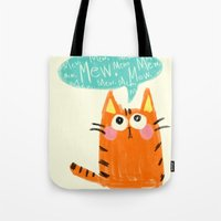 mew Tote Bags featuring mew. by TangerineCafé