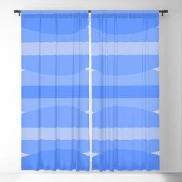 Ripples and Stripes in Blue Blackout Curtain