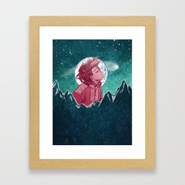 The Astronomer Who Met The North Wind Framed Art Print