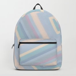 rotated square caro in pastel colors Backpack