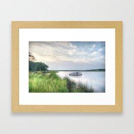 Outer Banks, Colington Harbour Sunset, OBX, NC Framed Art Print
