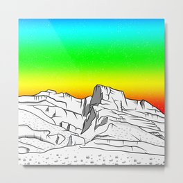 Notch Peak Sawtooth Mountain Metal Print