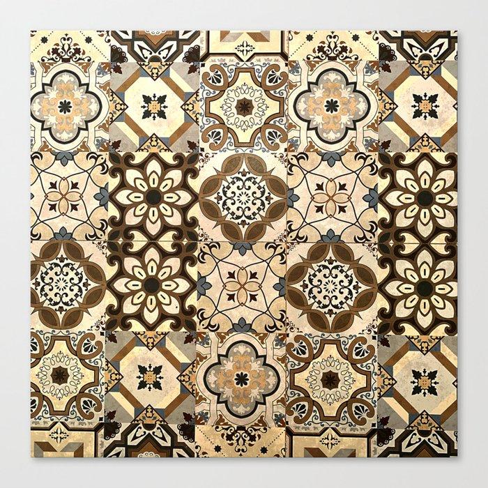 Moroccan Tiles Brown Spanish