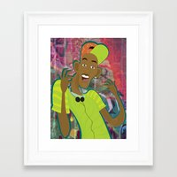 fresh prince Framed Art Prints featuring fresh prince by Michelle Pine