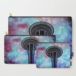 Space Needle - Seattle Stars Clouds Fog Carry-All Pouch