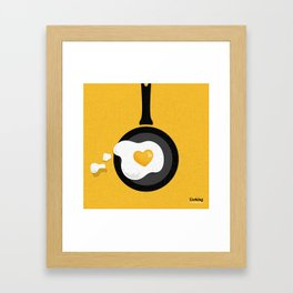 Cooking Is Love Framed Art Print