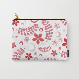 Rose pink floral pattern - summer positive vibes! Carry-All Pouch