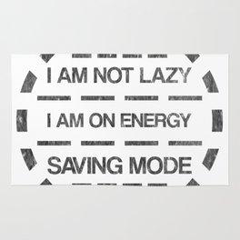 I am not lazy I am on energy saving mode Rug