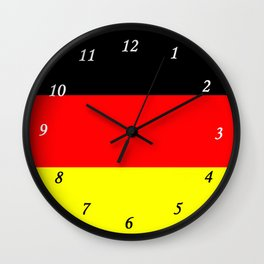 Deutsche Flagge Wall Clock