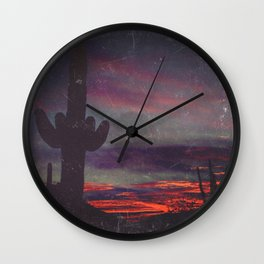 Darkness In The Desert - America As Vintage Album Art Wall Clock